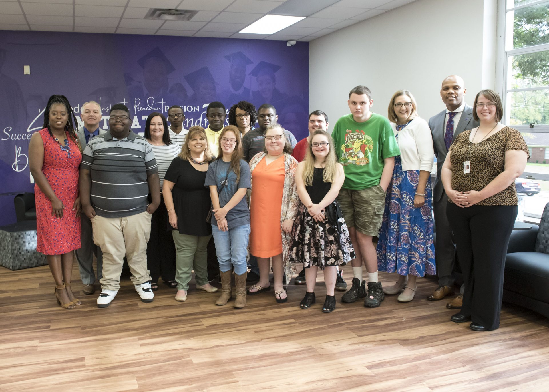 Students enrolled in the Marshall Independent School District 18+ Step Program